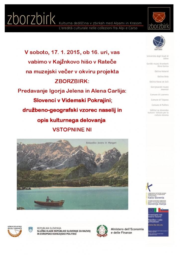 Vabilo-muzejski večer ZZ
