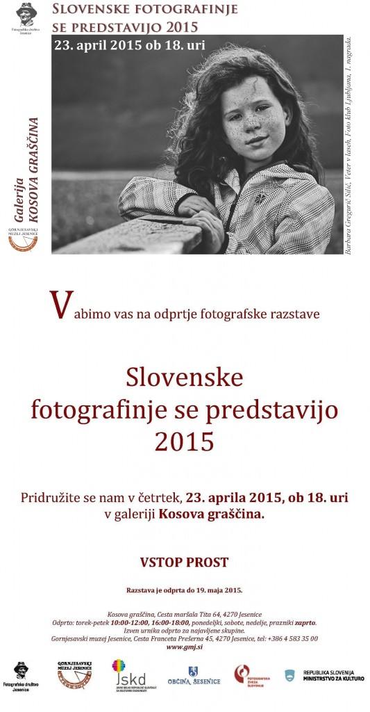Slovenske fotografinje 2015, evabilo