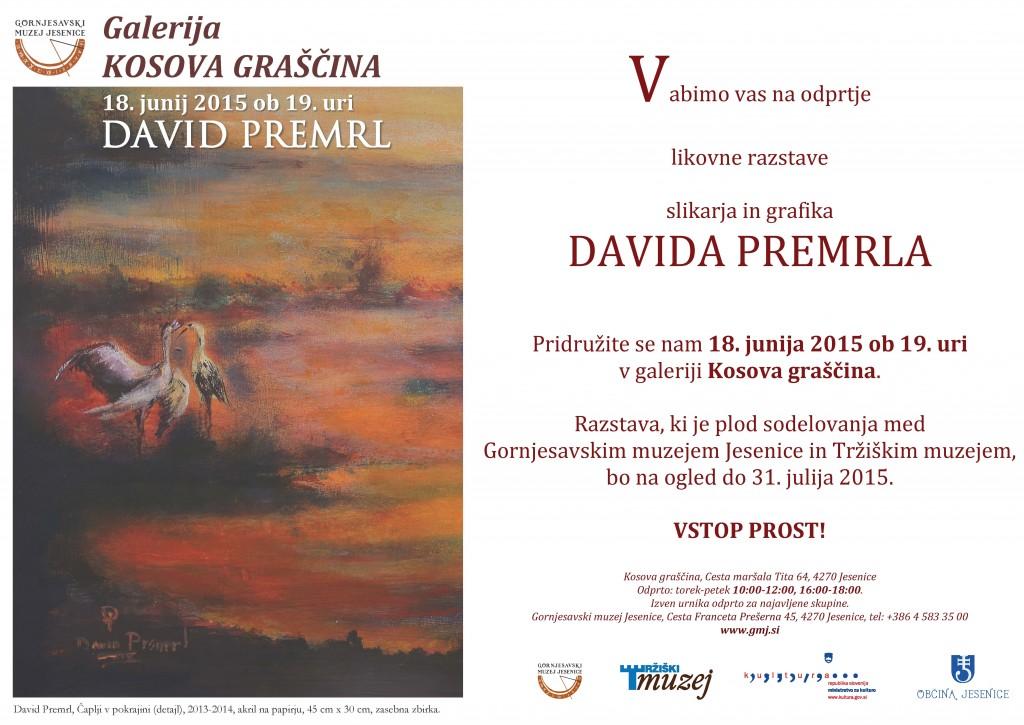 David Premrl, vabilo  e