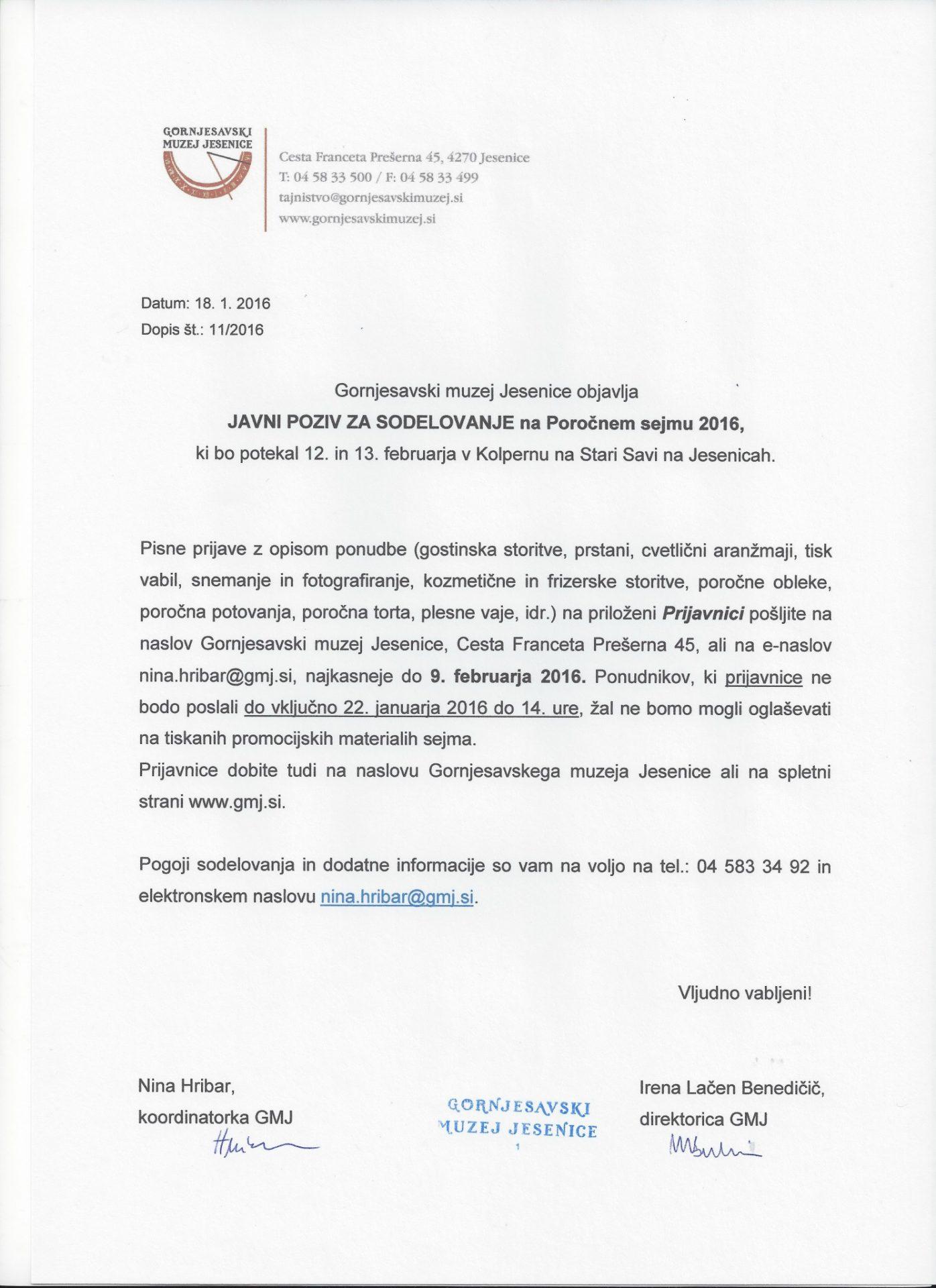 Javni poziv_sodelovanje na Poročnem sejmu 2016