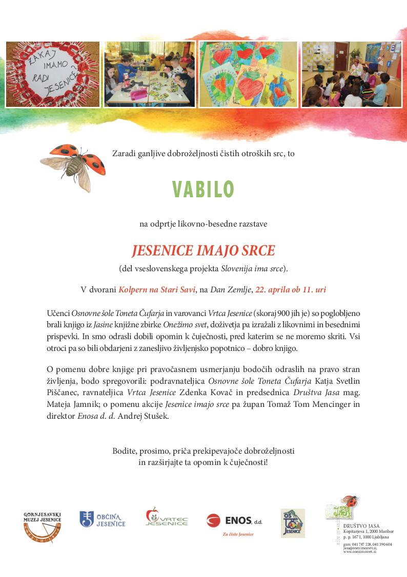 vabilo-Jesenice imajo srce