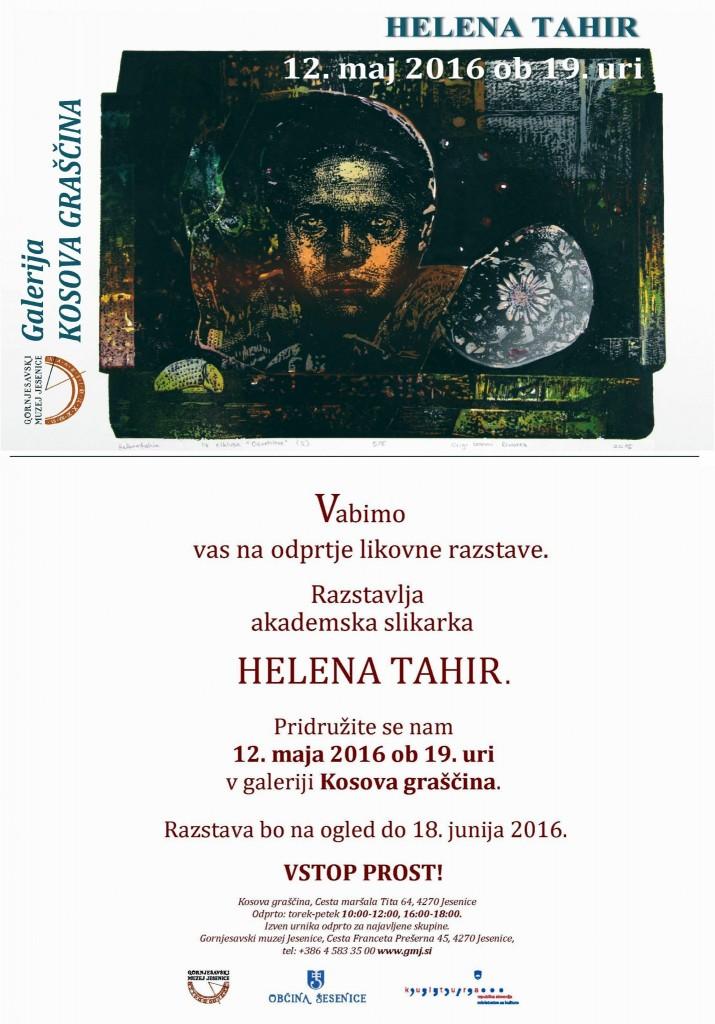 Helena Tahir, Gornjesavski muzej Jesenice, Kosova graščina, Aljaž Pogačnik