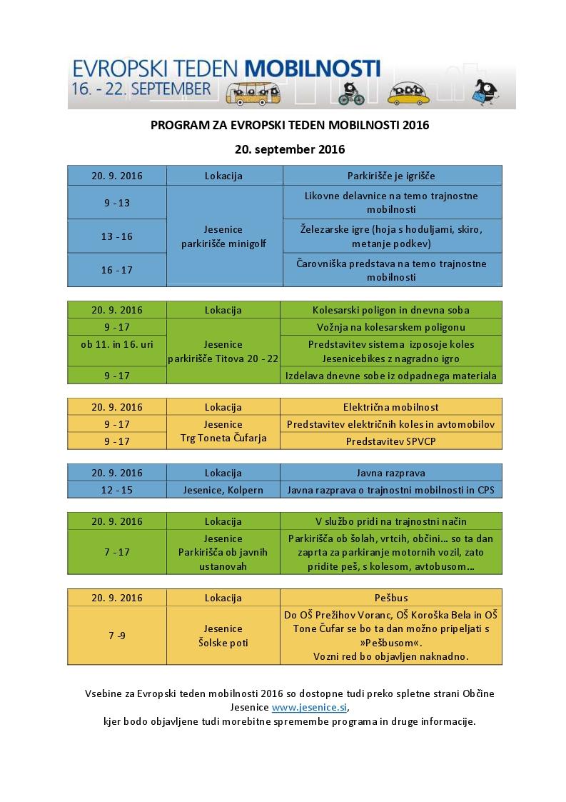 ETM 2016 program za javnost