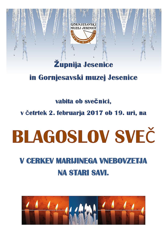 Blagoslov svec 2017_plakat