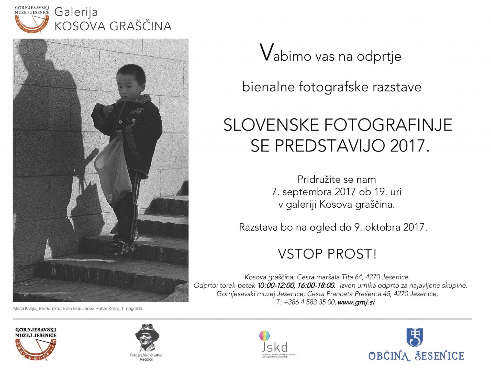 slovenske fotografinje se predstavijo 2017, Aljaž Pogačnik, Gornjesavski muzej, Jesenice, Kosova graščina