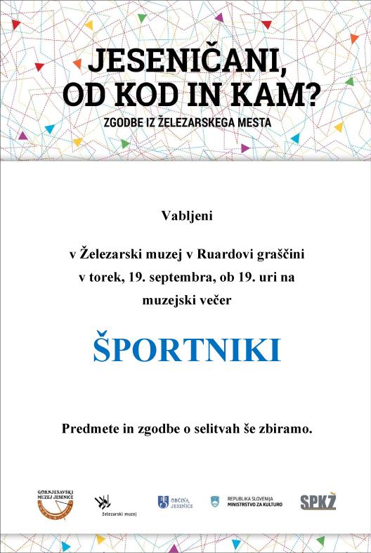 Muzejski večer - športniki (1)